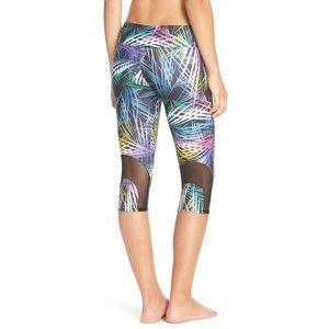 new Onzie ✦ Print Mesh Yoga Run Capri ✦ Krypton